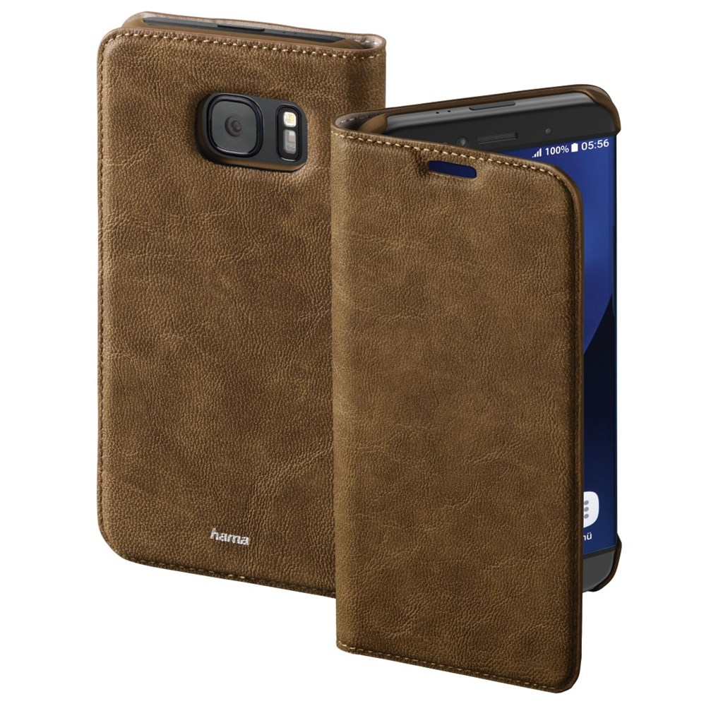 Hama Guard Case Booklet Case for Samsung Galaxy S7 edge, brown