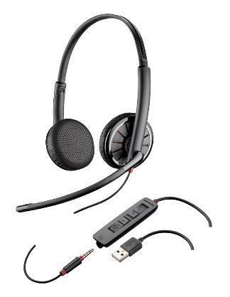 PLANTRONICS náhlavní souprava BLACKWIRE 325-M, USB, stereo