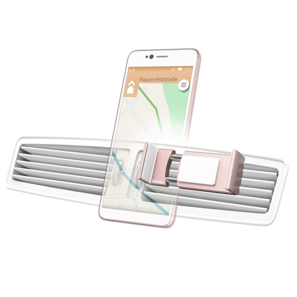 Hama Flipper, univerzální držák mobilu ve vozidle, pro šířku 6-8 cm, růžové zlato