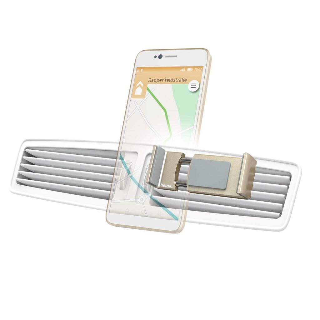 Hama Flipper, univerzální držák mobilu ve vozidle, pro šířku 6-8 cm, zlatý