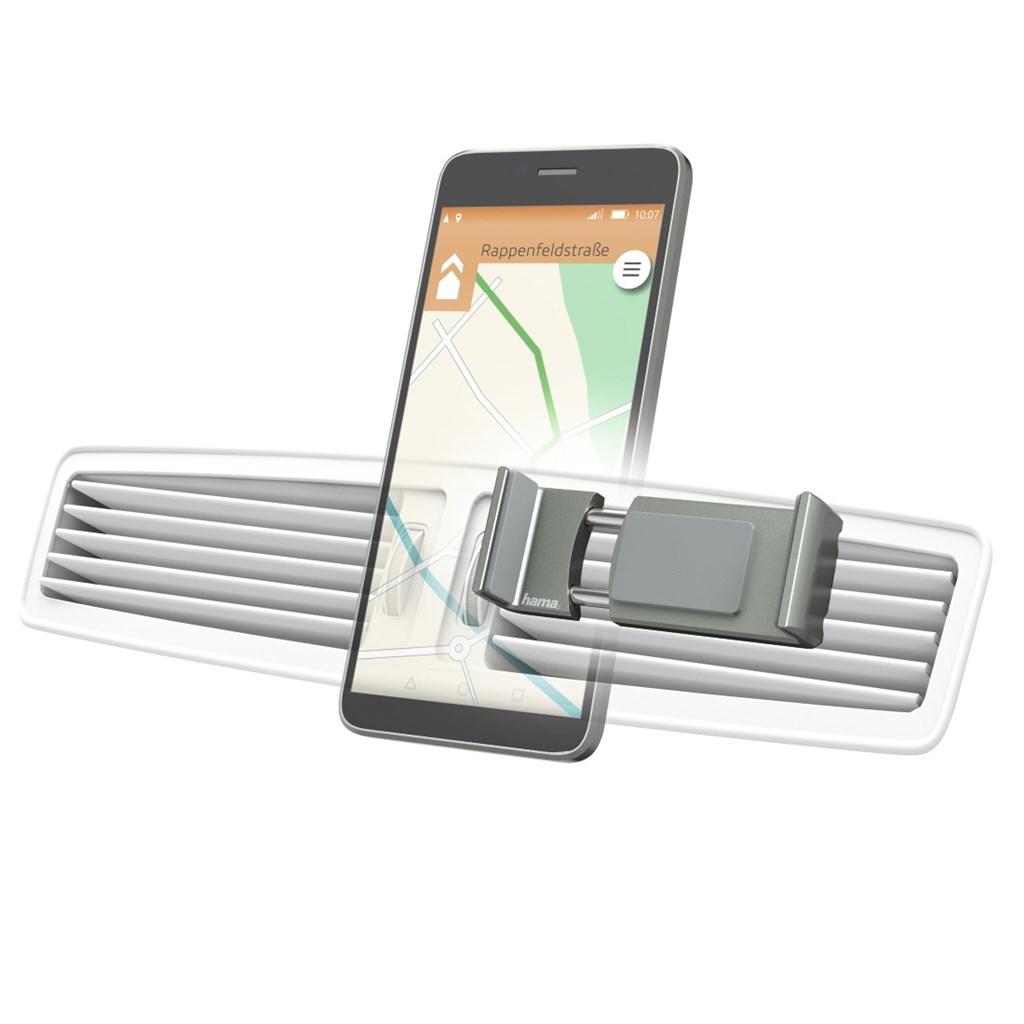 Hama Flipper, univerzální držák mobilu ve vozidle, pro šířku 6-8 cm, šedý