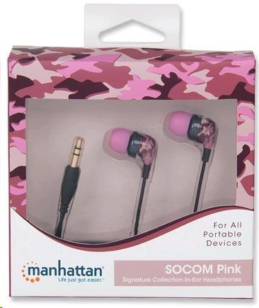 MANHATTAN Sluchátka Signature Collection - SOCOM Pink, špuntová