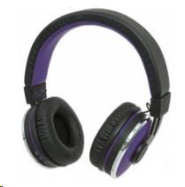 MANHATTAN Sound Science Cosmos Wireless Headphones, bluetooth, Black-Purple