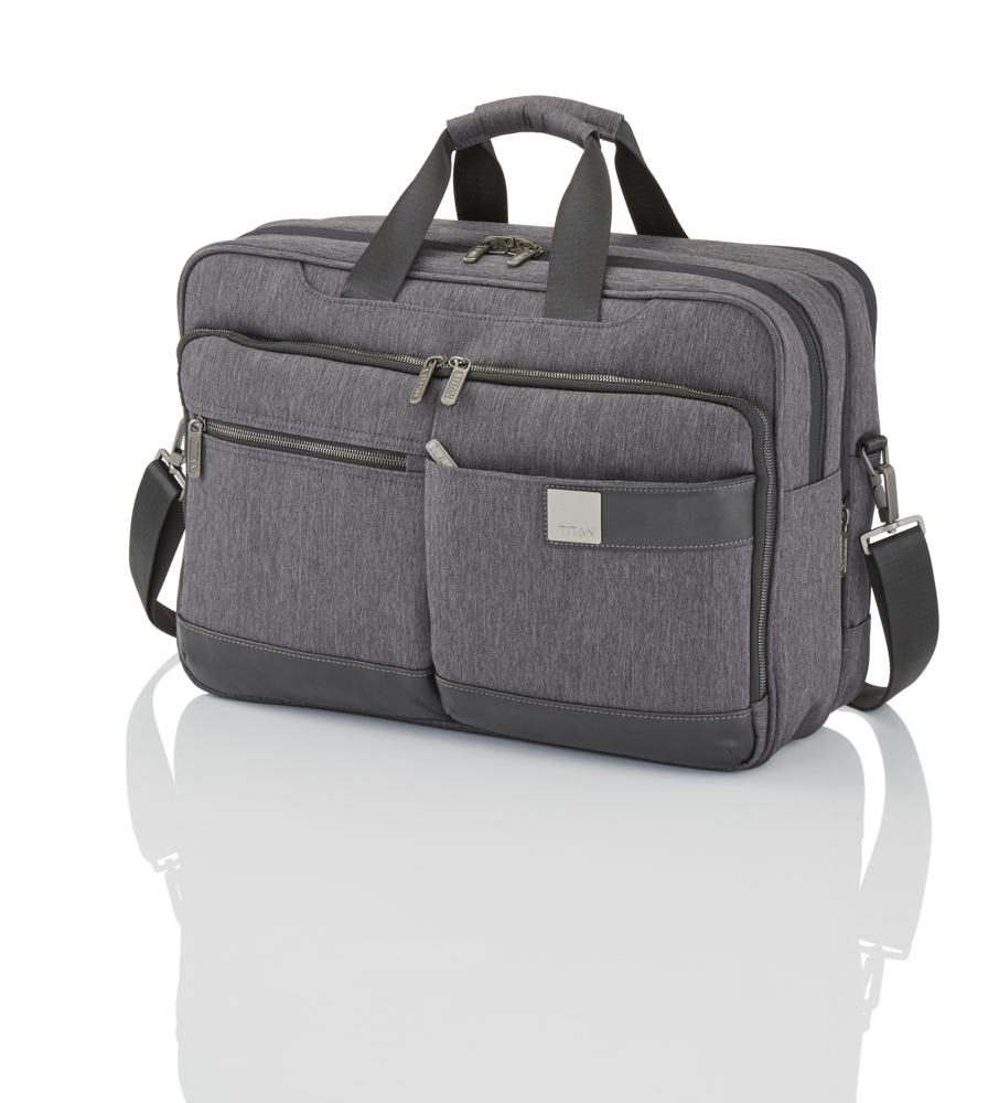 Titan Power Pack Laptop Bag L Anthracite