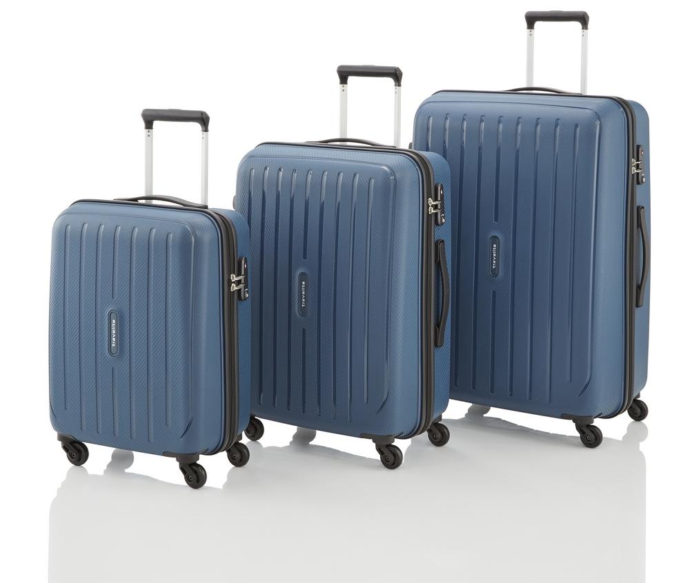 Travelite Uptown 4w S,M,L Navy – sada 3 kufrů