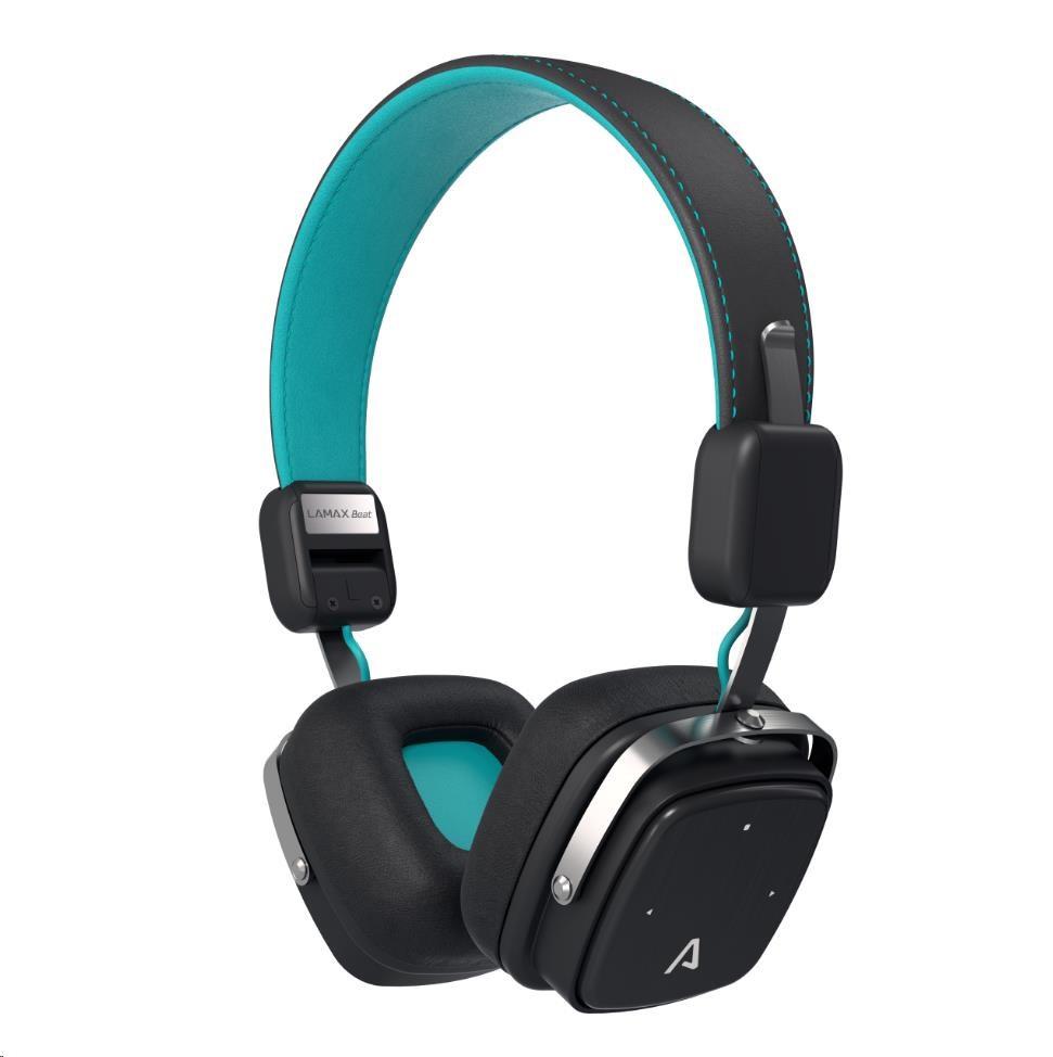 LAMAX Elite E-1 náhlavní sluchátka - tyrkysové