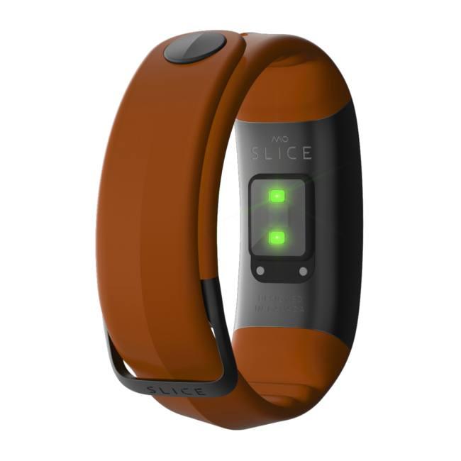 Mio SLICE celodenní měřič tepu a aktivity - dlouhý pásek - oranžový