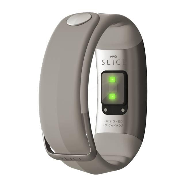 Mio SLICE celodenní měřič tepu a aktivity - krátký pásek - šedý