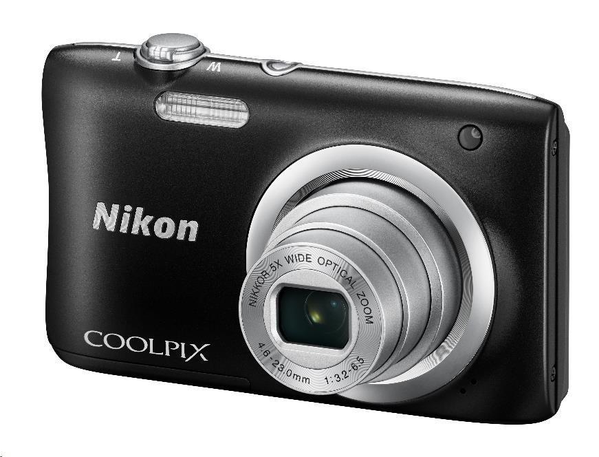 Nikon kompakt Coolpix A100, 20.1 Mpix, 5x zoom - černý - rozbaleny