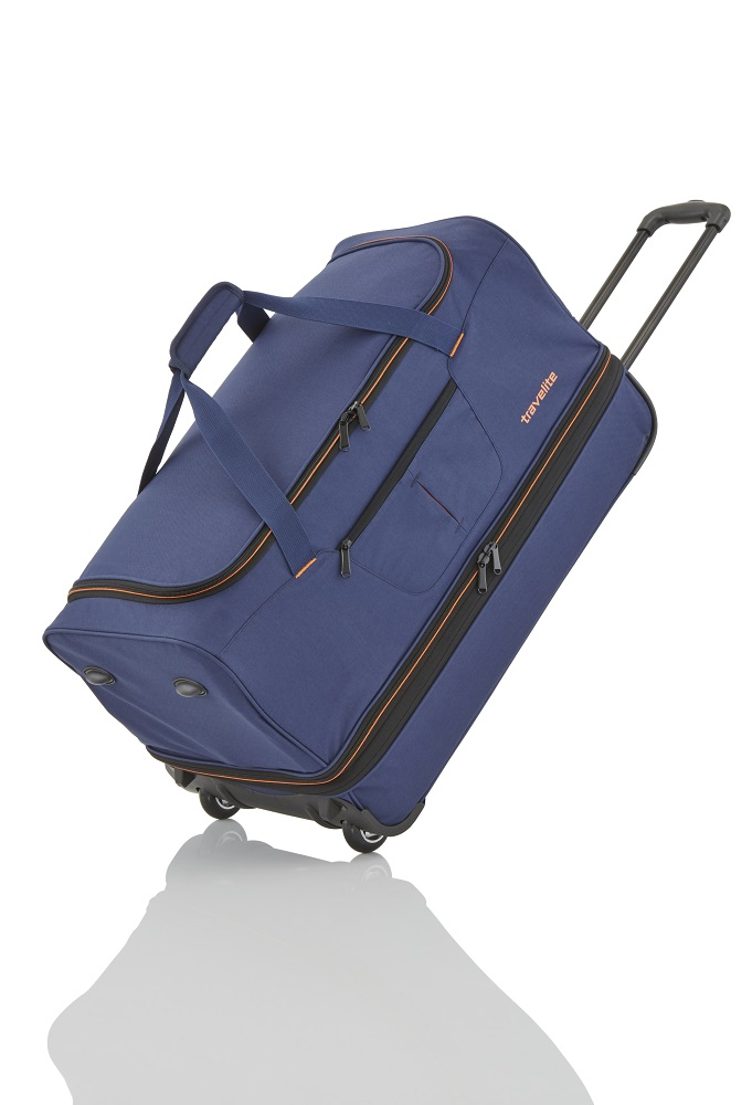 Travelite Basics Wheeled duffle L Navy/orang