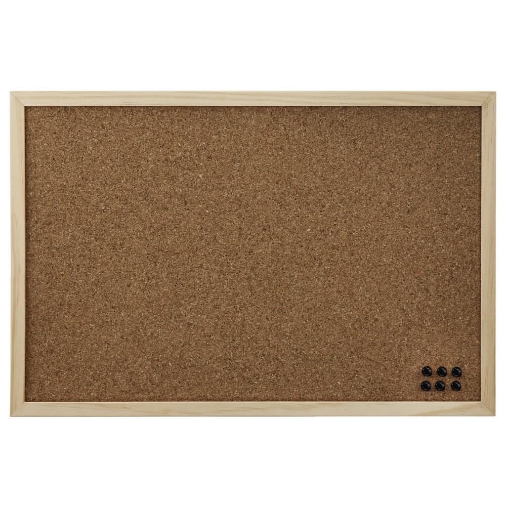 Korková nástěnka Hama 39,5x59 cm, oboustranná, dřevěná, přírodní