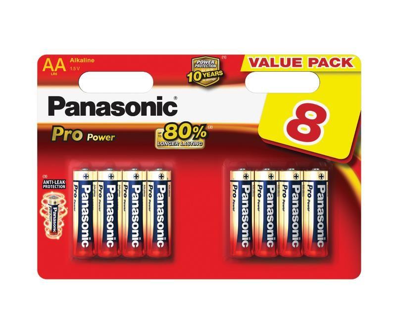 PANASONIC Alkalické baterie - Pro Power AA 1,5V balení - 8ks