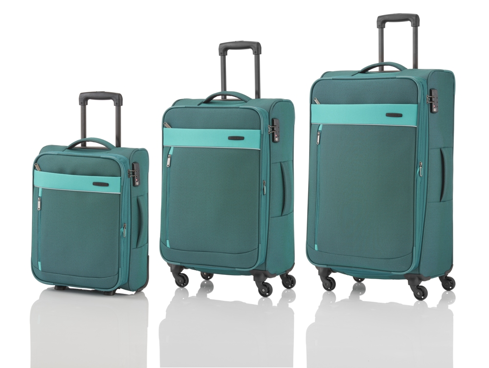Travelite Delta 2w S, 4w M,L Pine green – sada 3 kufrů + BB