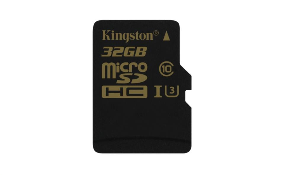 Kingston 32GB Micro SecureDigital (SDHC) Card Gold, UHS-I, 90r/45w