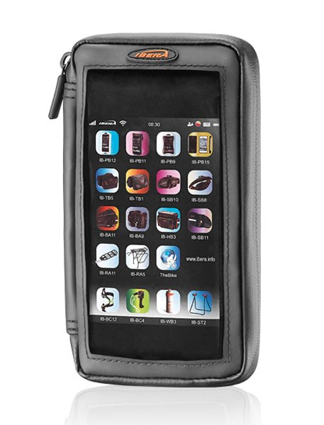 """IBERA IB-PB23 Pouzdro s peněženkou pro Smartphone 5 - 5.8"""" na představec"""