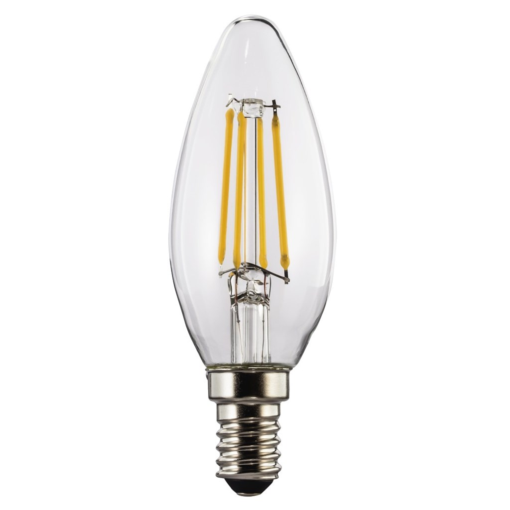 Xavax LED Lamp, 4W, candle shape, filament, E14, warm white