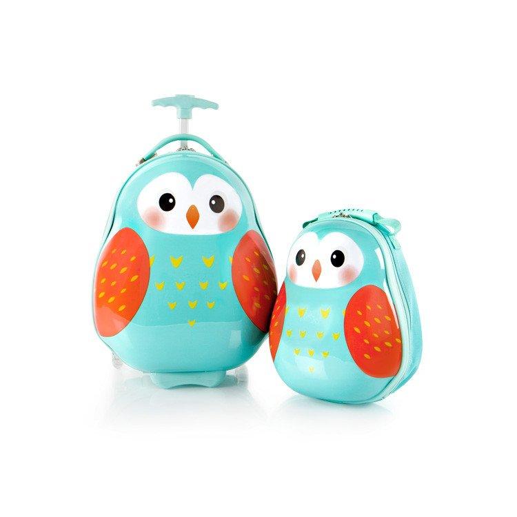 Heys Travel Tots Lightweight Kids Owl – sada batohu a kufru