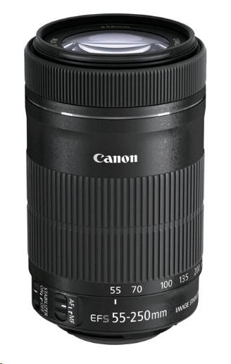Canon EF-S 55-250mm f/4-5.6 IS STM zoom objektiv + ET-63 + LC KIT
