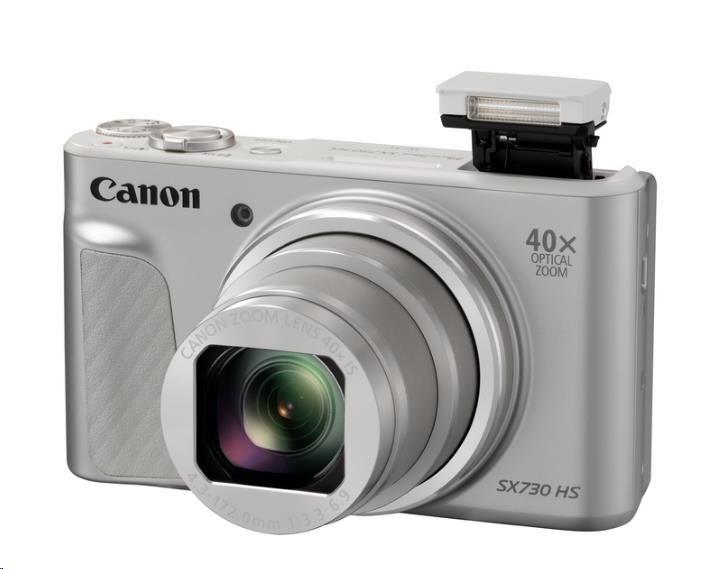 Canon PowerShot SX730 HS, 20.3Mpix, 40x zoom - stříbrný - Travel kit