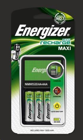 ENERGIZER Nabíječka baterií NiMH Maxi + 4AA Extreme 2300 mAh