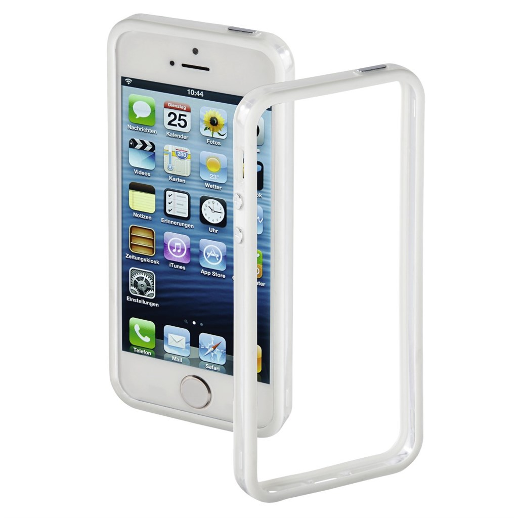 Hama Edge Protector Cover for Apple iPhone 5/5s/SE, white/transparent