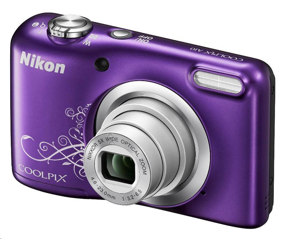 Nikon kompakt Coolpix A10, 16.1 Mpix, 5x zoom - fialový - rozbaleno
