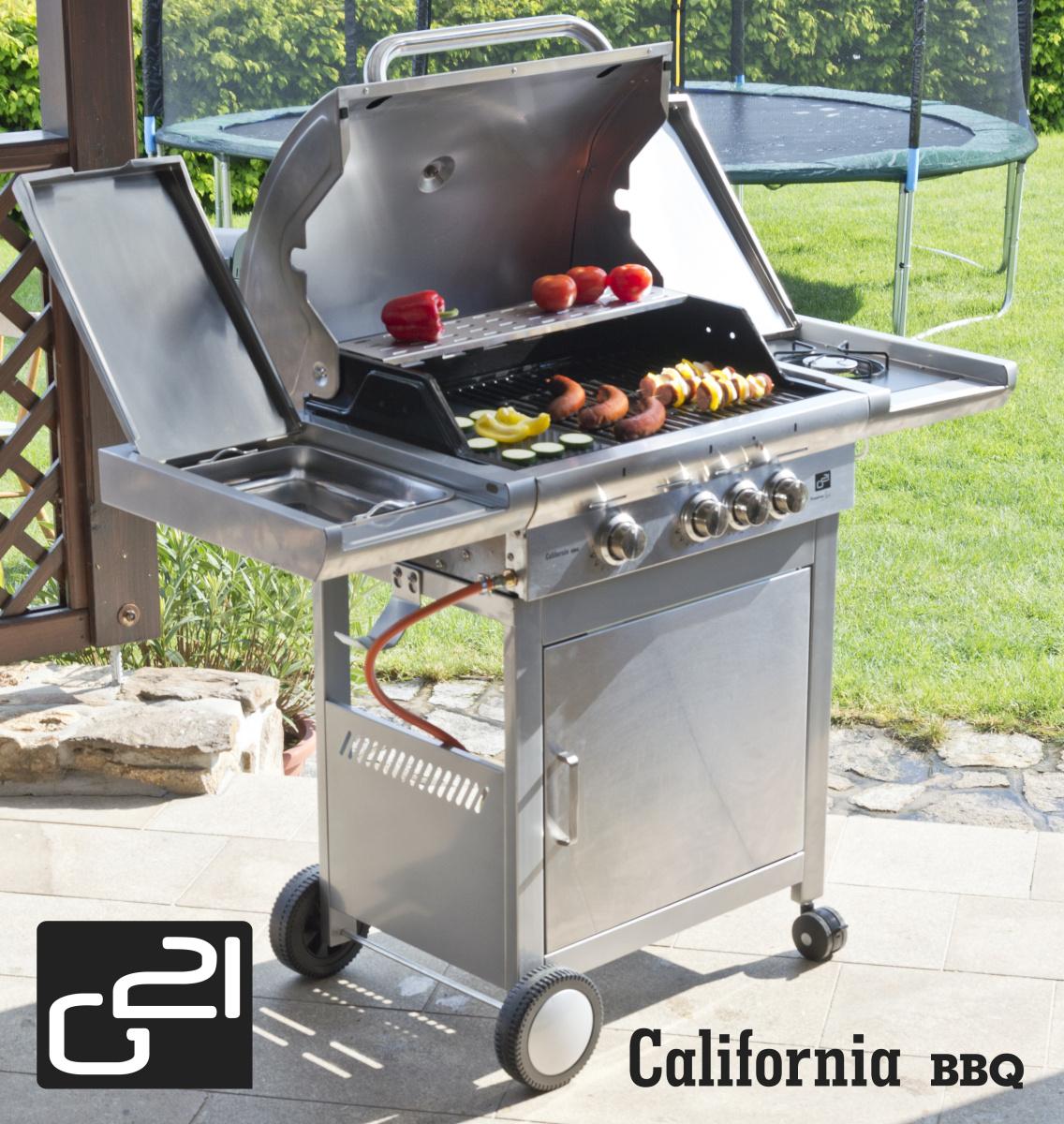 Plynový gril G21 California BBQ Premium line, 4 hořáky - poškozený obal
