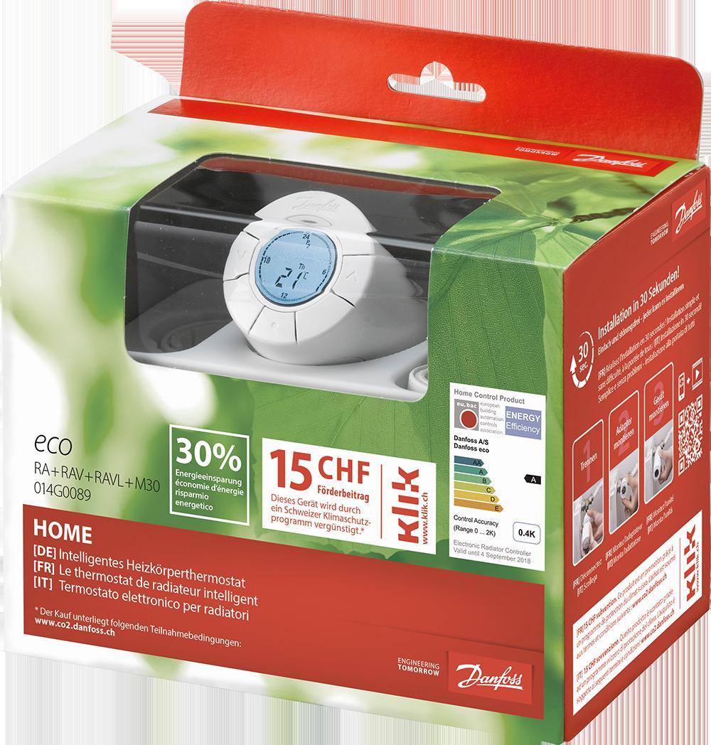 Danfoss Eco Home, termostatická hlavice