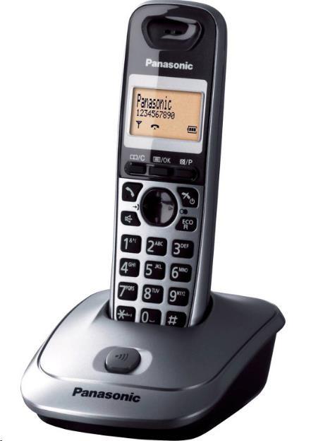 PANASONIC KX-TG2511FXM Digitální bezdrátový telefon,podsvícený displej, CLIP,
